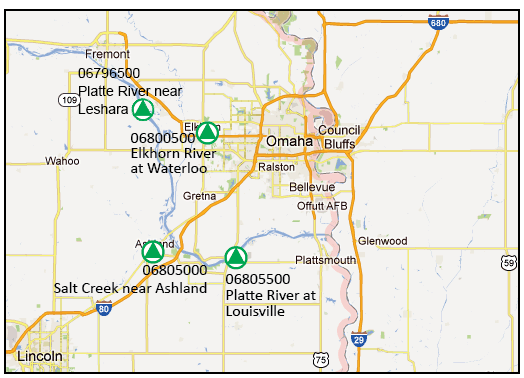 Lower Platte River WaterQuuality Monitoring Network - Platte river on us map