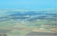 Picture of agricultural and urban setting, southwest Kansas (Photo by K.F. Dennehy, USGS)